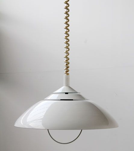 Retro Pull Down Ceiling Light 1970s