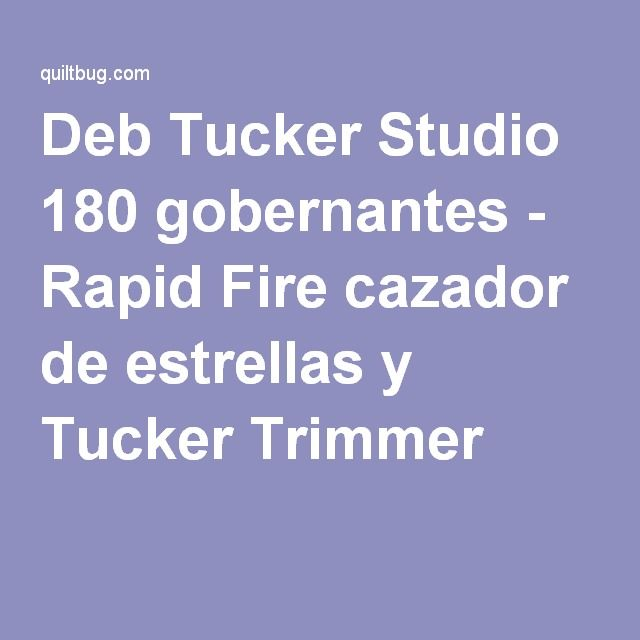 Deb Tucker Studio 180 gobernantes - Rapid Fire cazador de estrellas y Tucker Trimmer