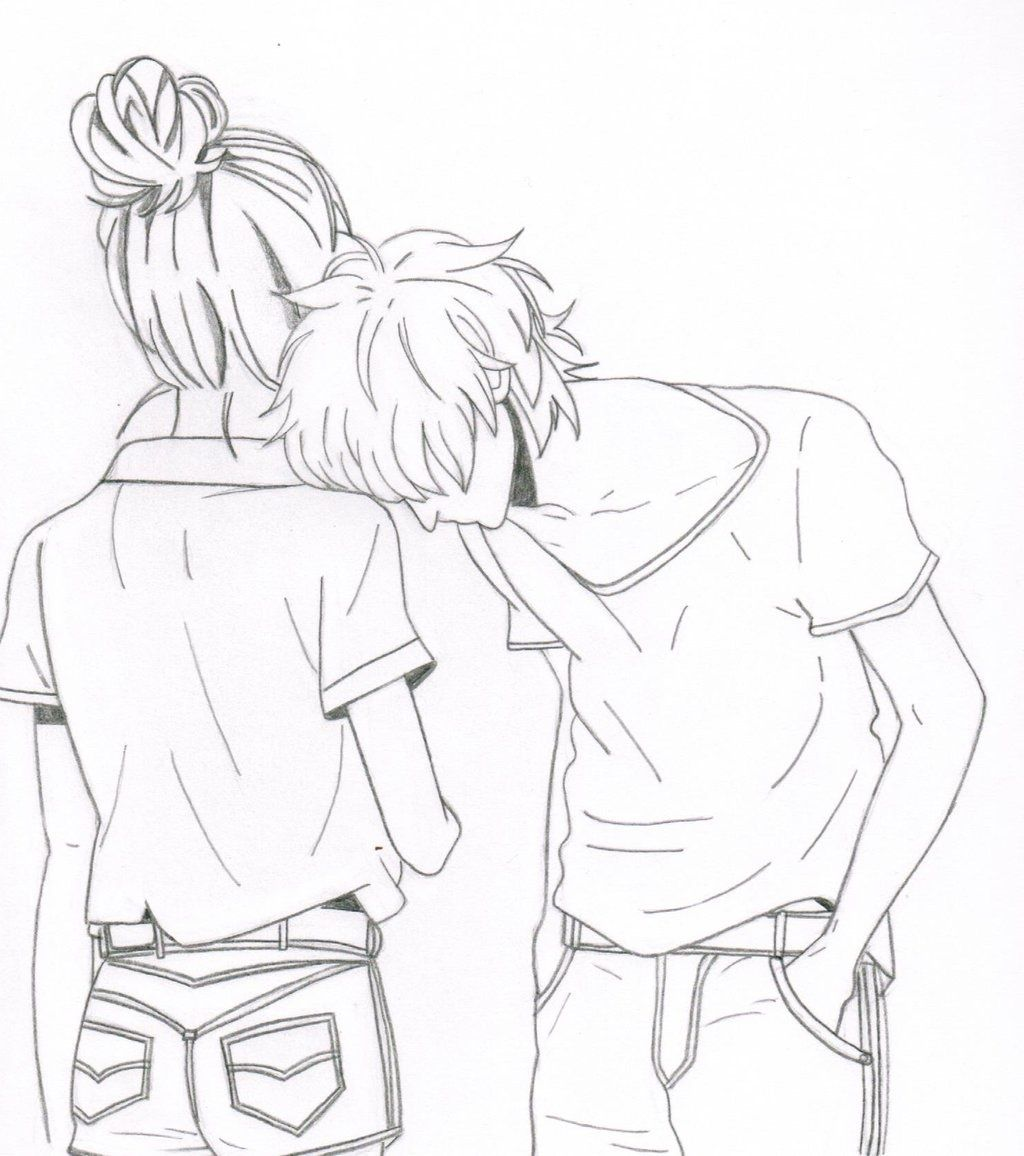 Anime Couple Coloring Pages For Teens
