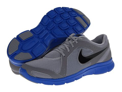 Nike Men's Running Shoes Flex Experience Wolf Grey/Black/Prize Blue