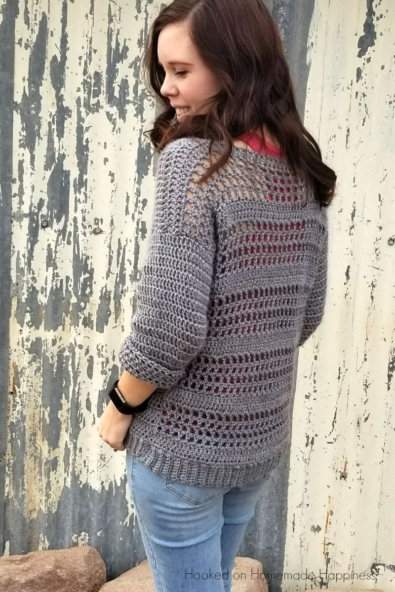 Simple Crochet Sweater Pattern Gehaakte Poncho Pinterest
