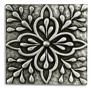 Tile Decorative Inserts Pewter Tiles Metal Tiles Accent Tiles Backsplash Tiles Insert