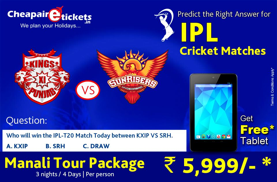 Participate in IPL Contest and Get an chance to win Tablet