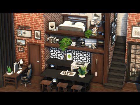 Modern Loft [No CC]   Platform Apartment   Speedbuild   The Sims 4