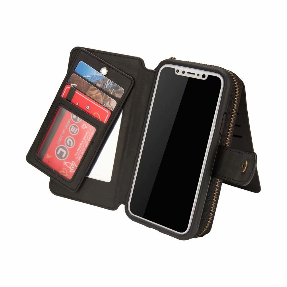newest dad06 97aef BRG iPhone XS Max Detachable 2 in 1 Zipper Wallet Case with Handbag ...