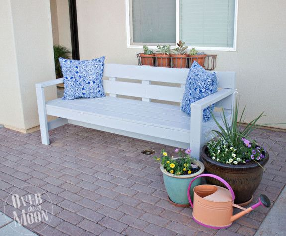Create A Diy Garden Bench Using Items You Already Have At Home Diy Front Porch Garden Bench Plans Front Porch Bench
