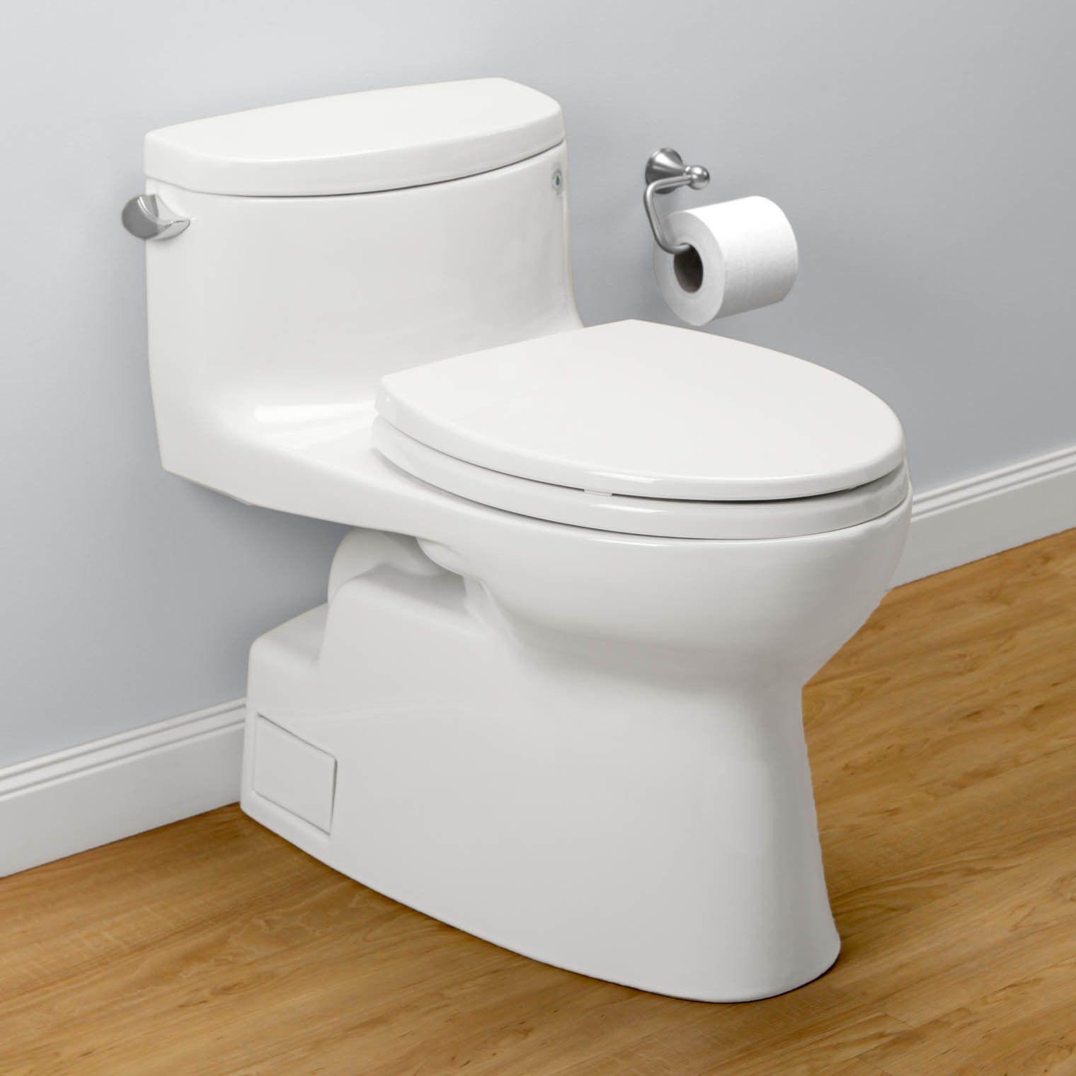 TOTO MS644114CEFG#01 Carolina II One-Piece Toilet, 1.28 GPF ...