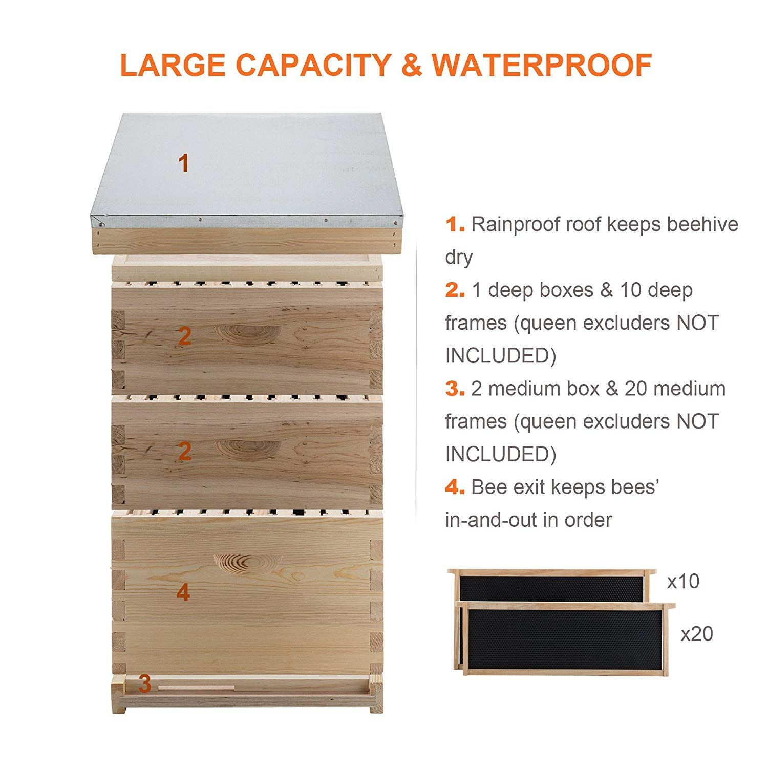Queen Bee Excluder For 10 Frame Langstroth /& Automatic Honey Flow System