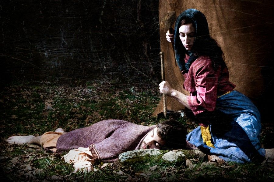 From the Song of Deborah Jael u0026 Sisera  She put her hand to the tent peg and her right hand to the workmenu0027s mallet; she struck Sisera a blow  sc 1 st  Pinterest & Jael u0026 Sisera | jael | Pinterest | Tent pegs