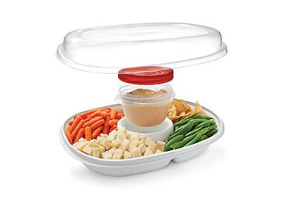 Rubbermaid Party Platter is a lightweight 2 in 1 container perfect