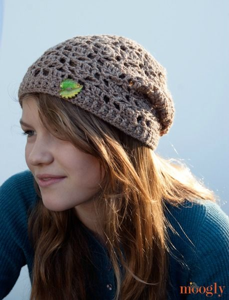 Free Pattern: Fallen Leaves Slouch Hat | Crochet | Pinterest ...