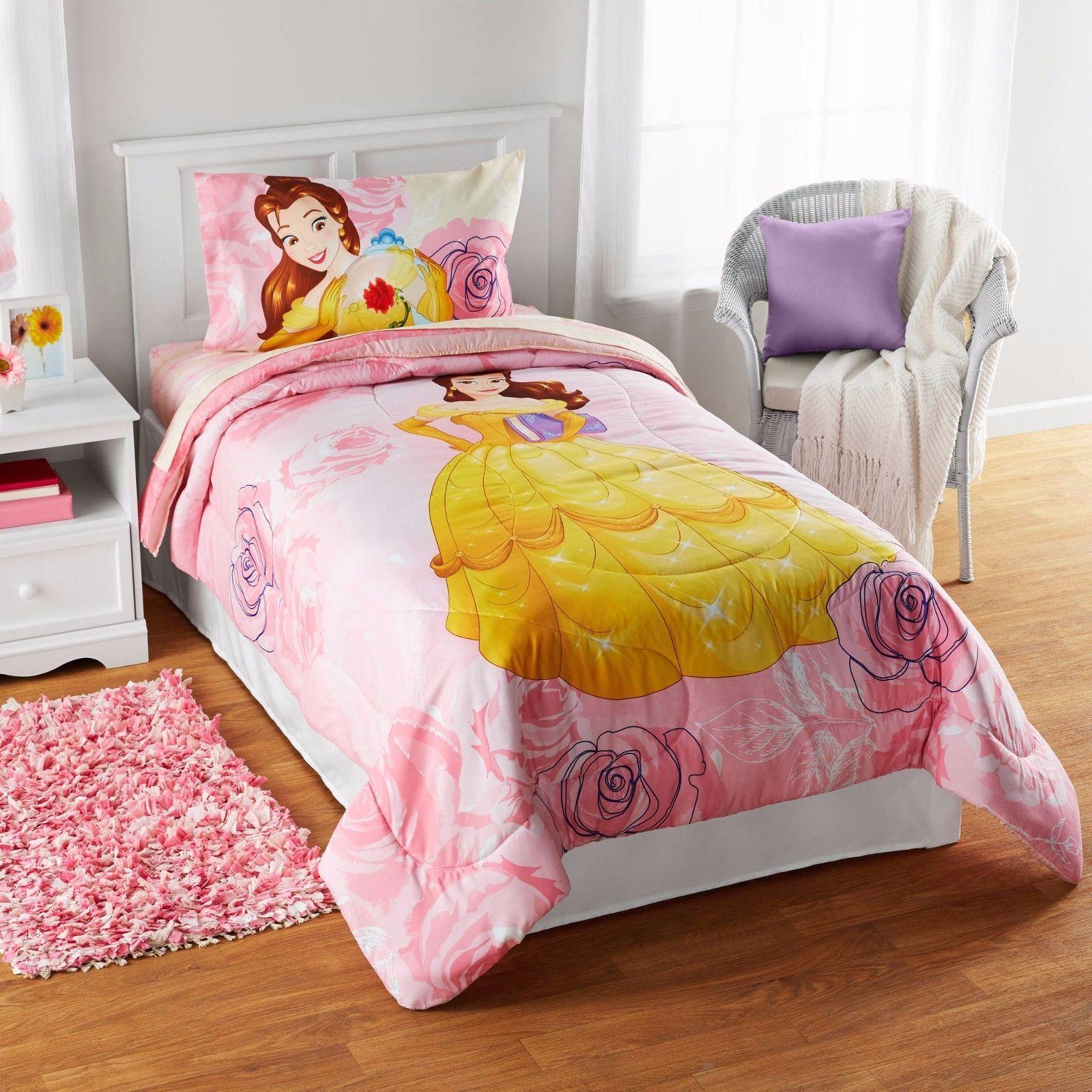 Disney Princess Comforter Set Cinderella Blanket Sham Twin Bed Princess Bedding Set Princess Bed Disney Princess Bedding