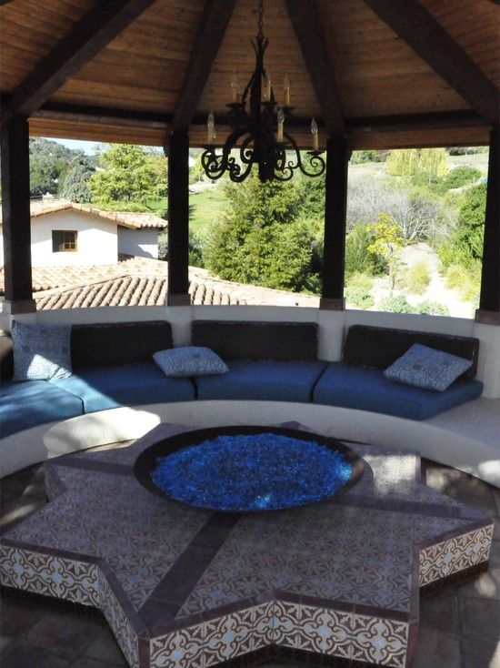 fire place glass...Patio Fireplace Design, Pictures