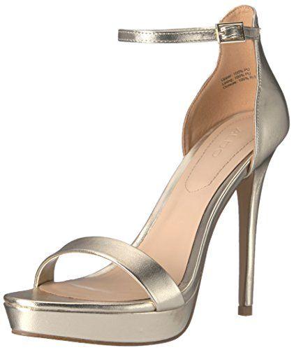 Aldo Women's Madalene Platform Dress Sandal, Gold, 8.5 B