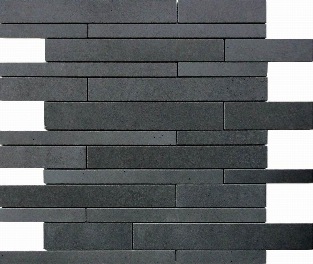 Black tile flooring for elegant look - This Marble Mosaic Tile Is Made Up By Some Small Marble Blocks With Polished Tumbled And Honed Finish In Always They Are Used As Flooring Tiles And