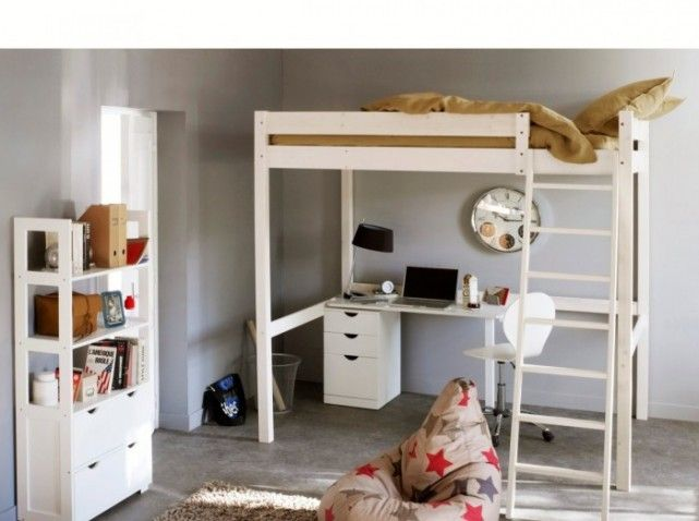 lit mezzanine pin laredoute chambre rapha pinterest lits mezzanine mezzanine et pin. Black Bedroom Furniture Sets. Home Design Ideas