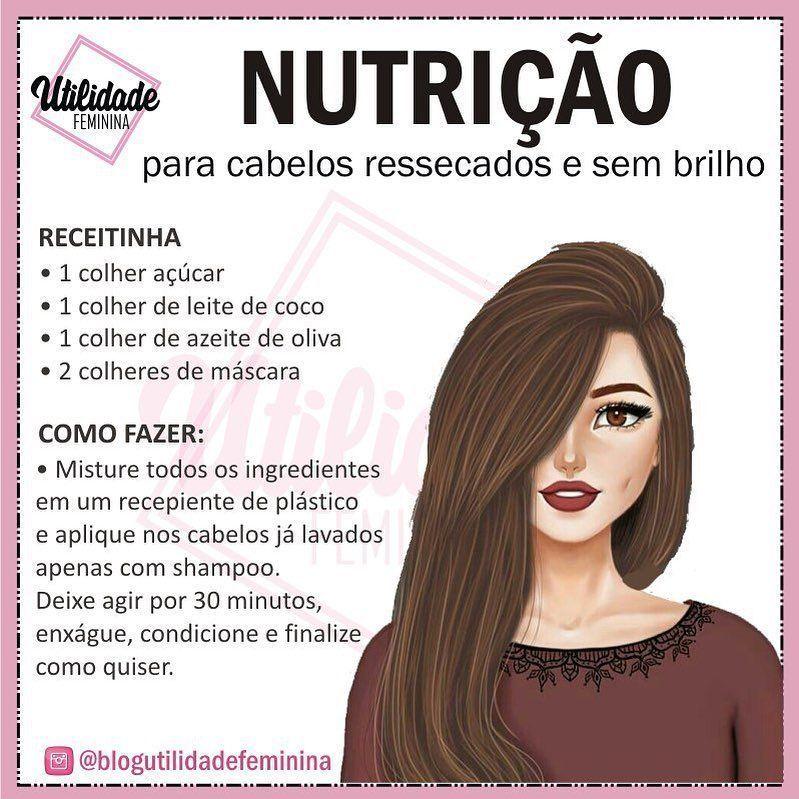 Boa de nutrição pra deixar os cabelos lindos