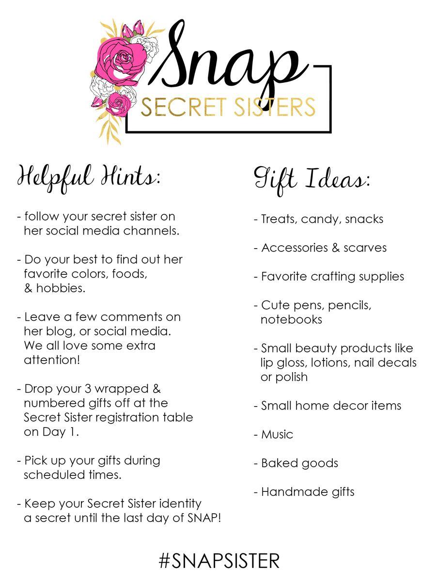 Snap 2016 Secret Sister Program Conference Birthday Gift Ideas ...
