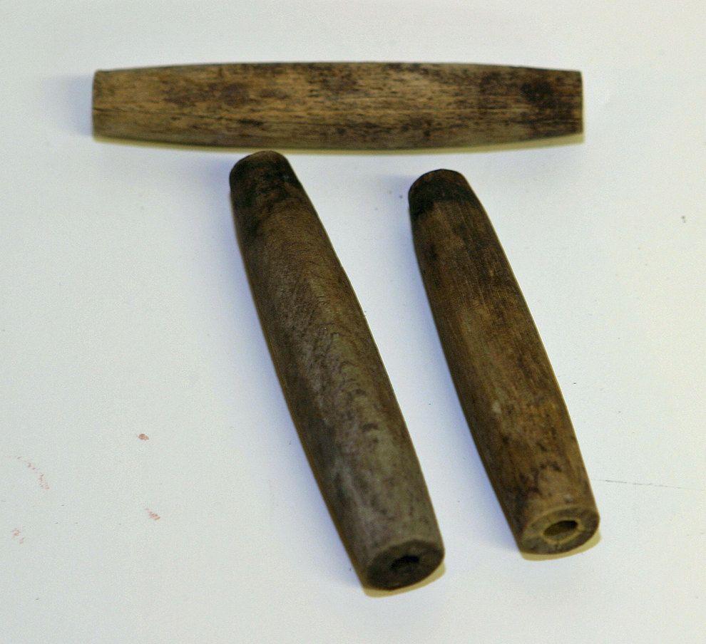 antique 1800s primitive rare 3 wooden maple sap taps or spiles all