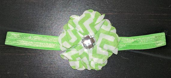 Check out this item in my Etsy shop https://www.etsy.com/listing/487776824/green-chevron-headband
