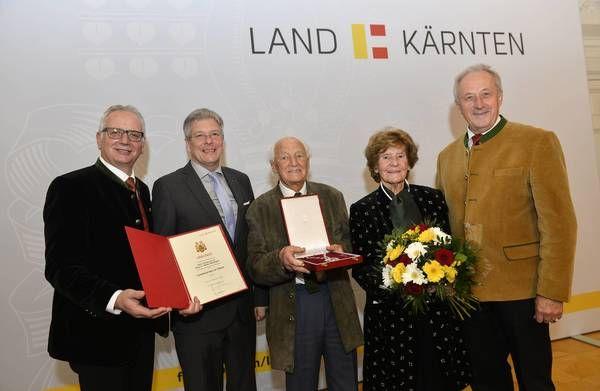 """""""Kärntner Landesorden in Silber"""" für Walter Kraxner"""