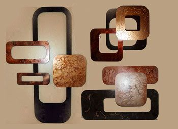Metal Wall Sculpture Bronze