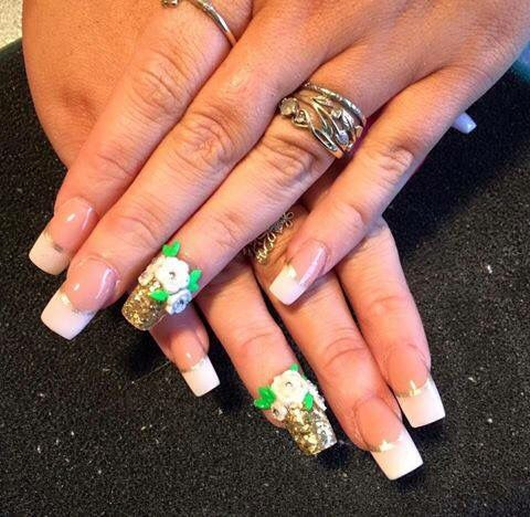 great bridal set 🌺💐 with images  how to do nails