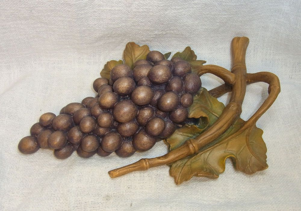 Vintage German Carved Wood Grape Desk Decoration #BE