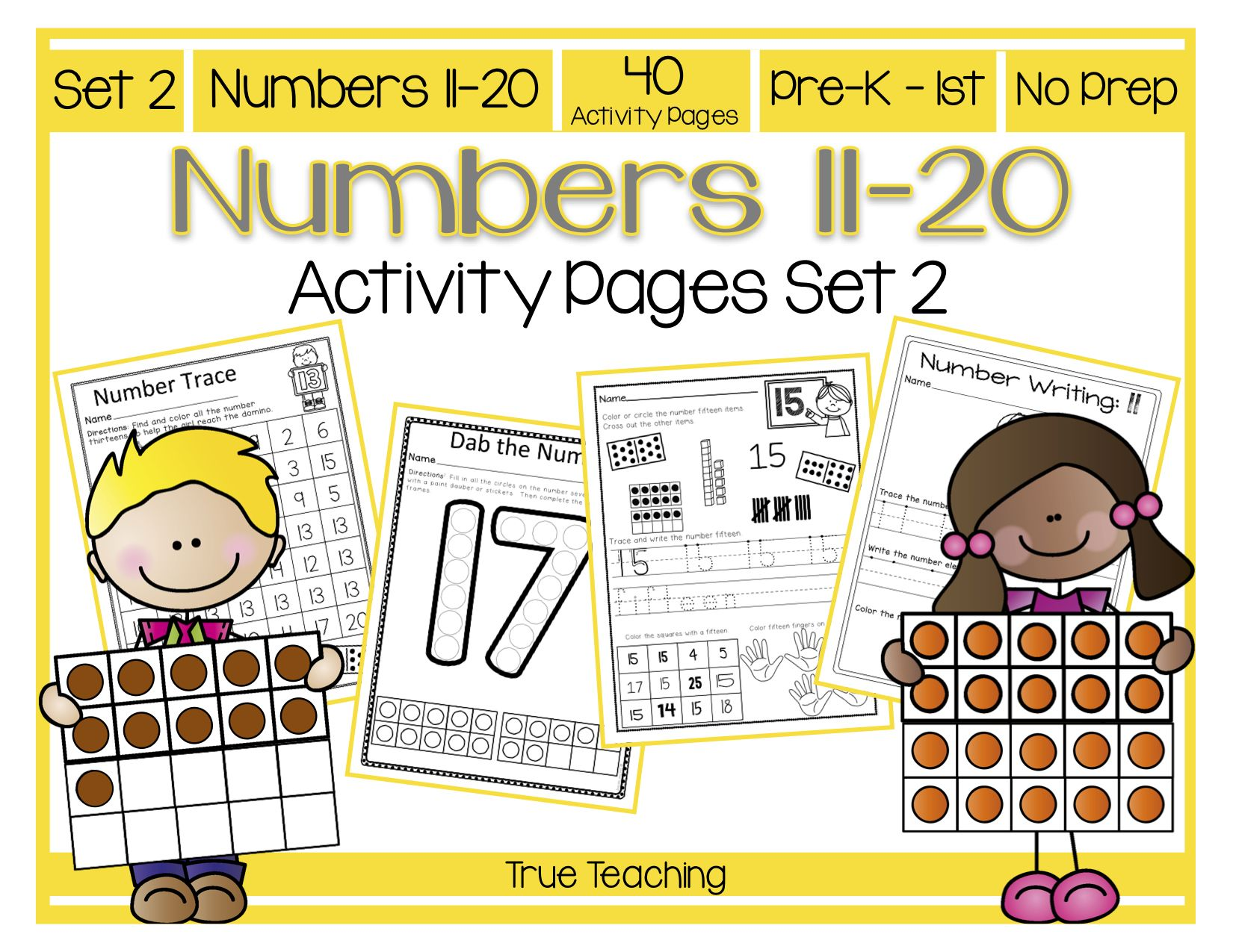 Numbers 11 20 Activity Pages Set 2 Writing Numbers Number Tracing Activities [ 1275 x 1650 Pixel ]