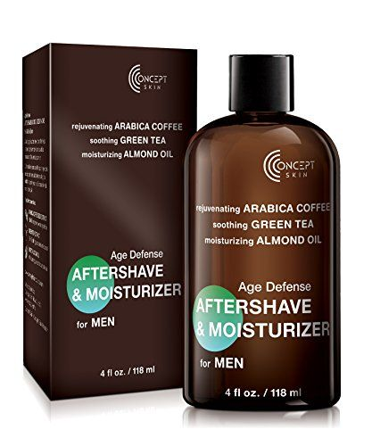 Age Defense Aftershave Moisturizer For Men 4 Oz With Coffee Grape Seed Extract Green Tea Almond Oil Soothi Almond Oil Skin Organic Face Cream Anti Aging Cream