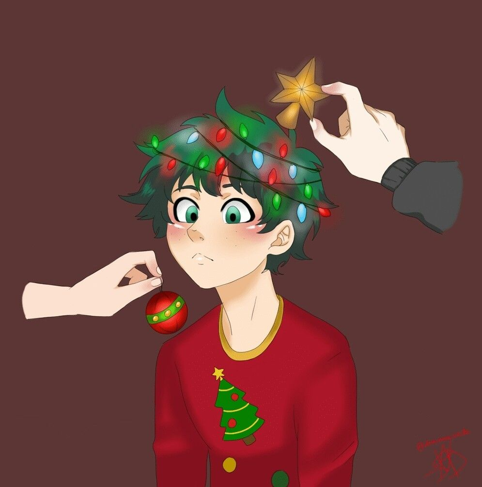 Merry Christmas Midoriya Izuku My Hero Academia Episodes Anime Christmas Hero Academia Characters