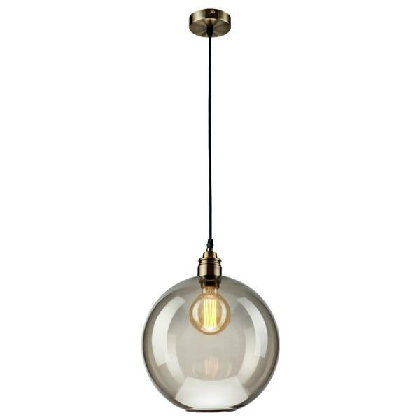 Glass pendant in gray Lamkur Ball   Bonami- Glass suspended …