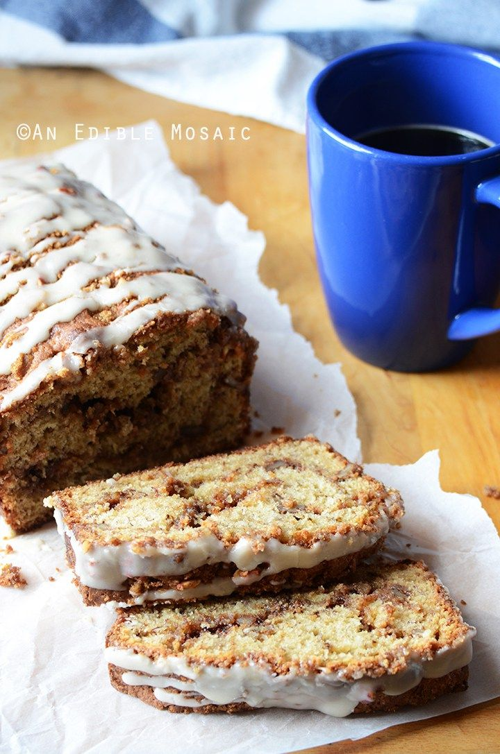 Banana Sour Cream Coffee Cake With Brown Sugar Pecan Swirl Recipe Banana Coffee Cakes Coffee Cake Sour Cream Coffee Cake