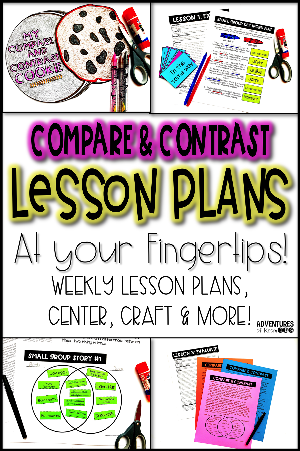 Compare And Contrast Printables