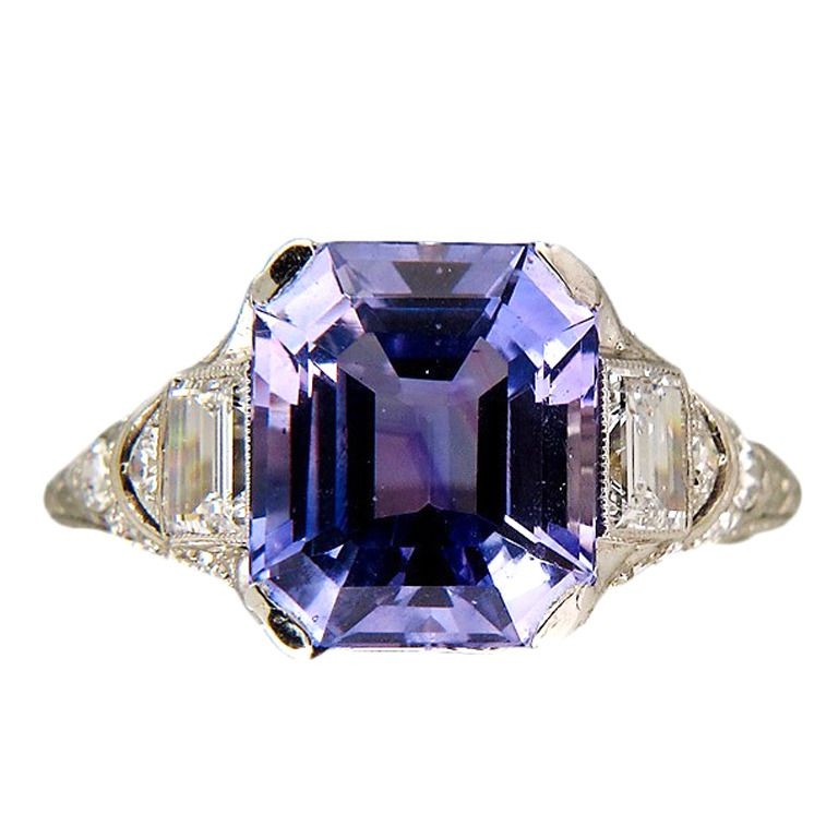 963e1ec62 Tiffany & Co Art Deco Natural Sapphire Platinum Ring c1920   From a  unique collection