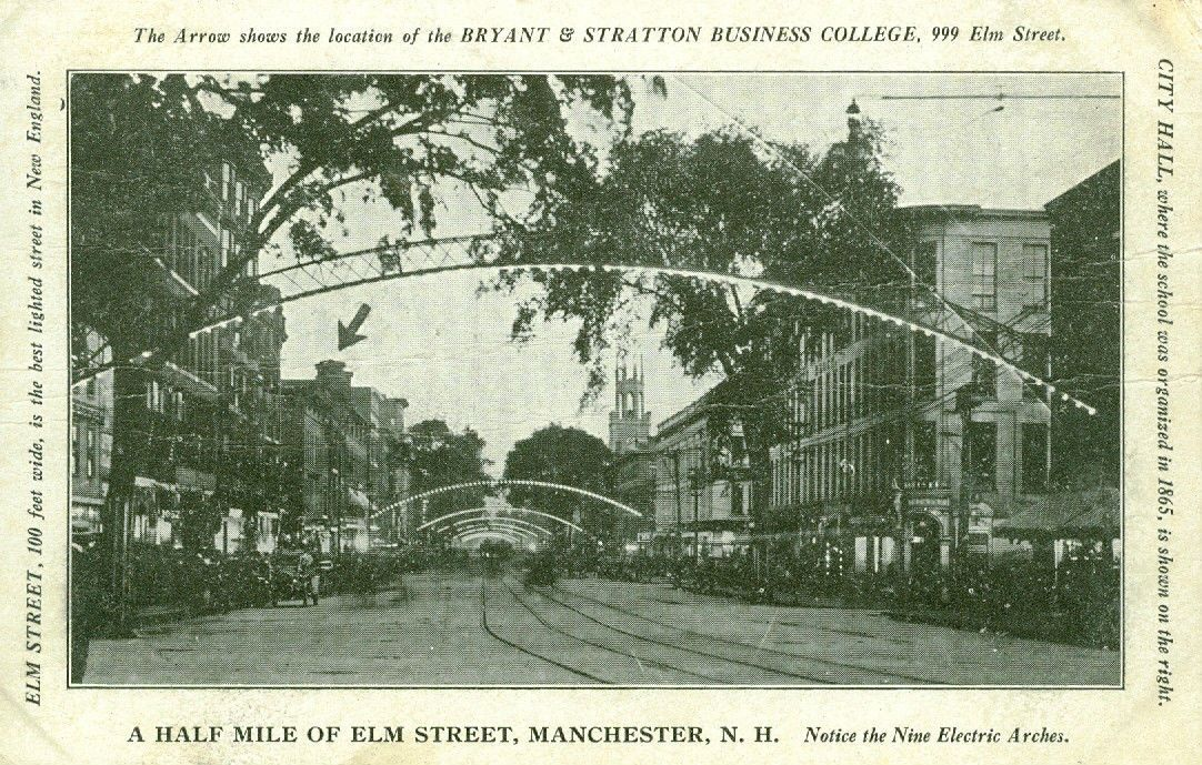 http://www.ebay.com/itm/Manchester-NH-A-Half-Mile-of-Elm-Street-w-Nine-Electric-Arches-1912-/300955060235?hash=item461251c80b