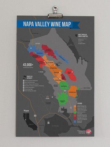 USA California North Coast Wine Map Napa Valley Wine Wines And - Napa valley vineyard map