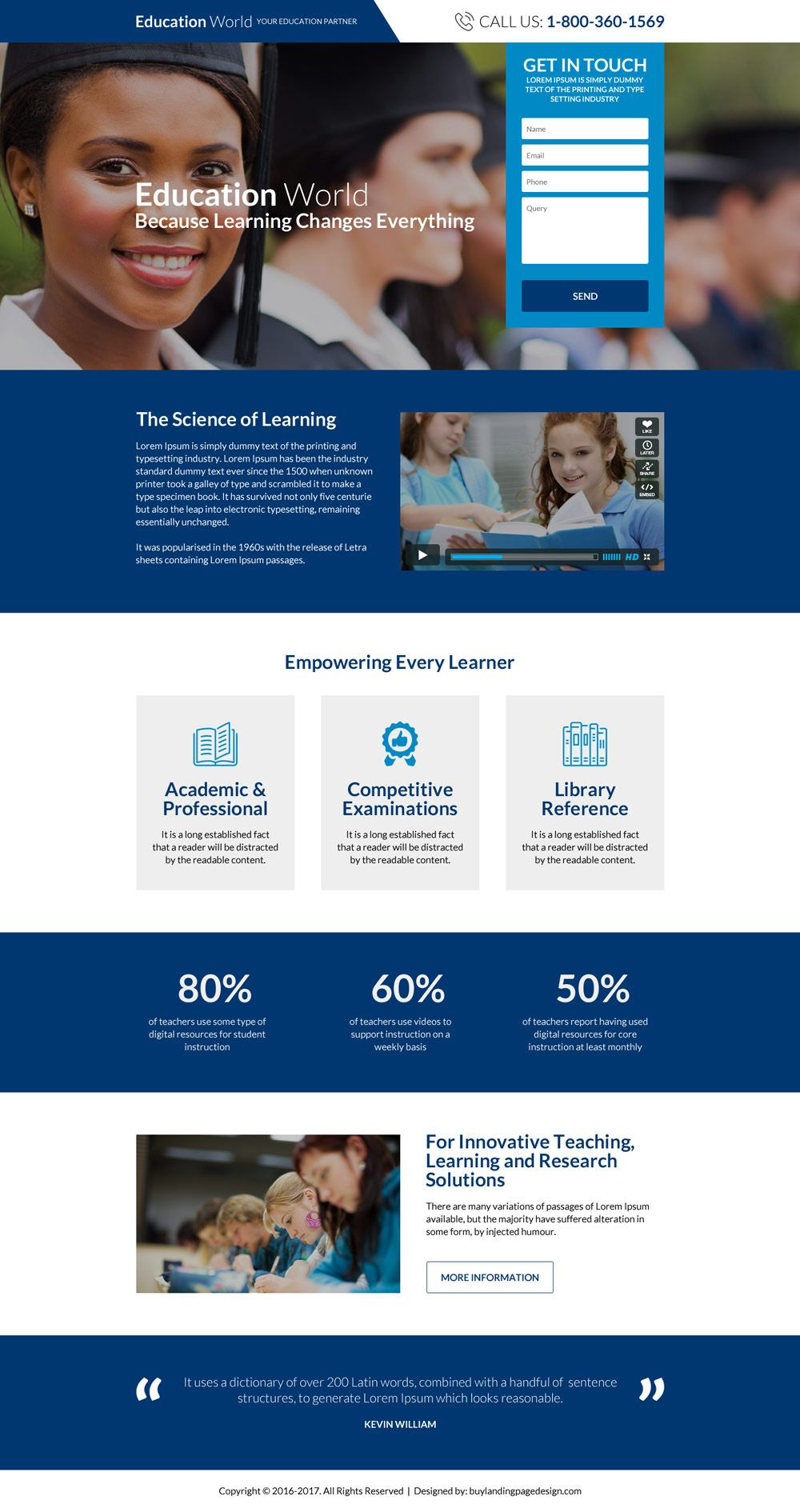 Worldwide Education Consultants Landing Page Design Landing Page Design Online Web Design Educational Consultant