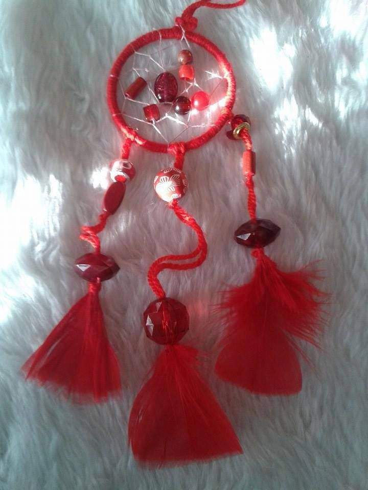 Red Dreamcatcher by Aspirations1805 on Etsy