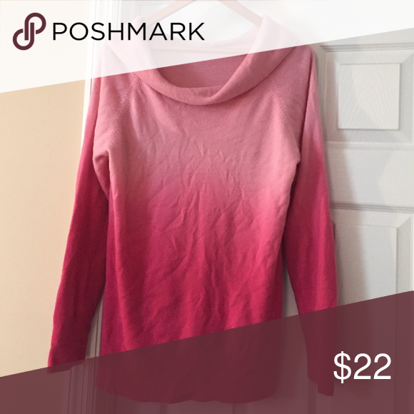 Christopher & Banks pink sweater Pretty pink ombré sweater with ...