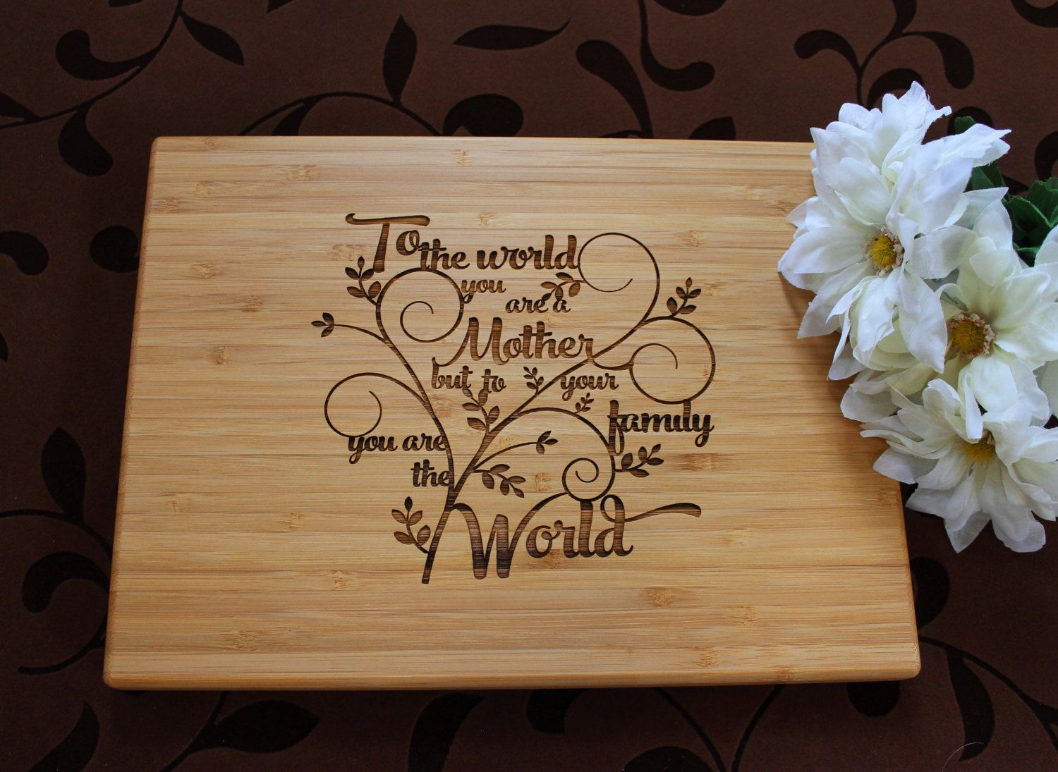 Mother's Day Cutting Board Lasered Engraved Mom Birthday Gift Mom ...