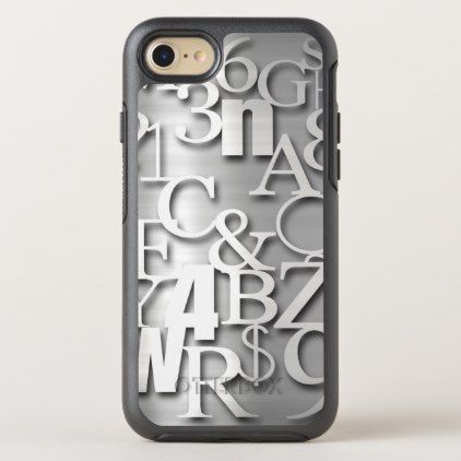 Silver Metallic Letters Numbers  Symbols Otterbox Symmetry Iphone