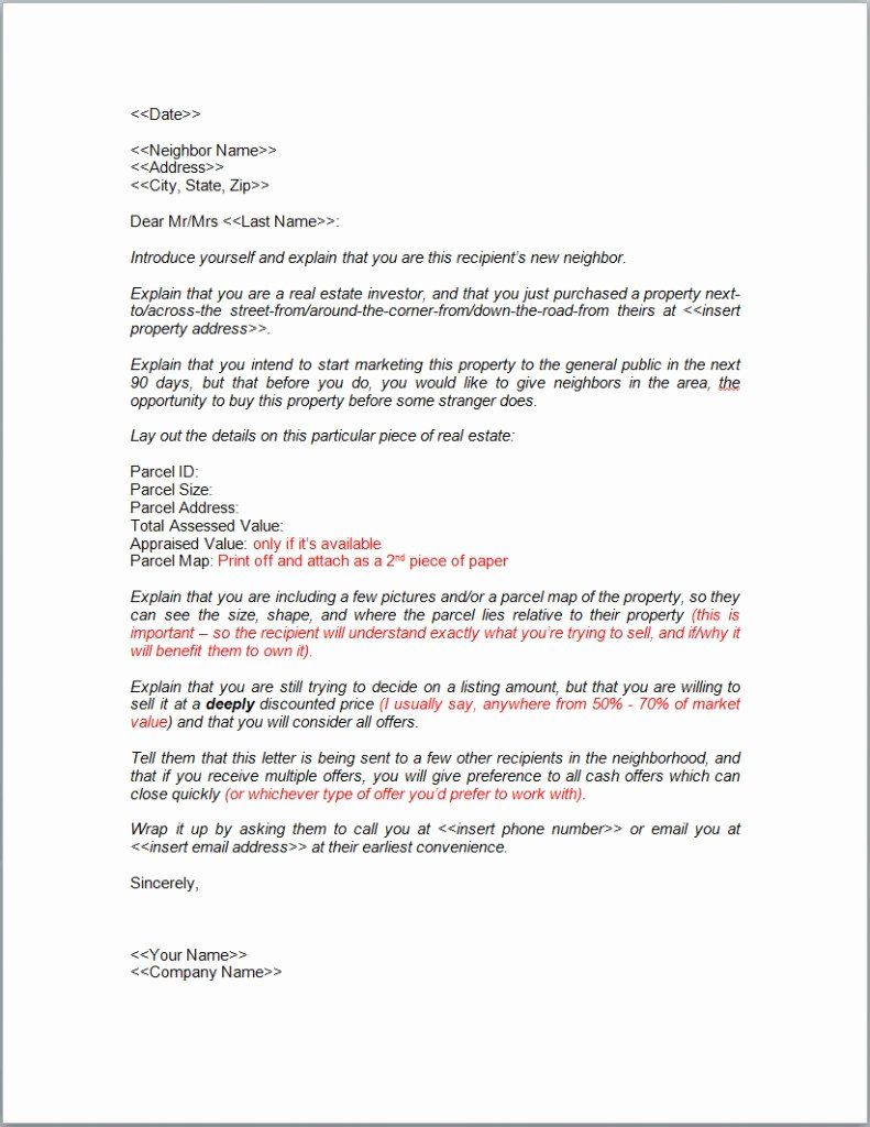 Welcome To The Neighborhood Letter New Write A Neighbor Letter And Sell Your Property Fast Retipster Letter Templates Business Letter Template Lettering
