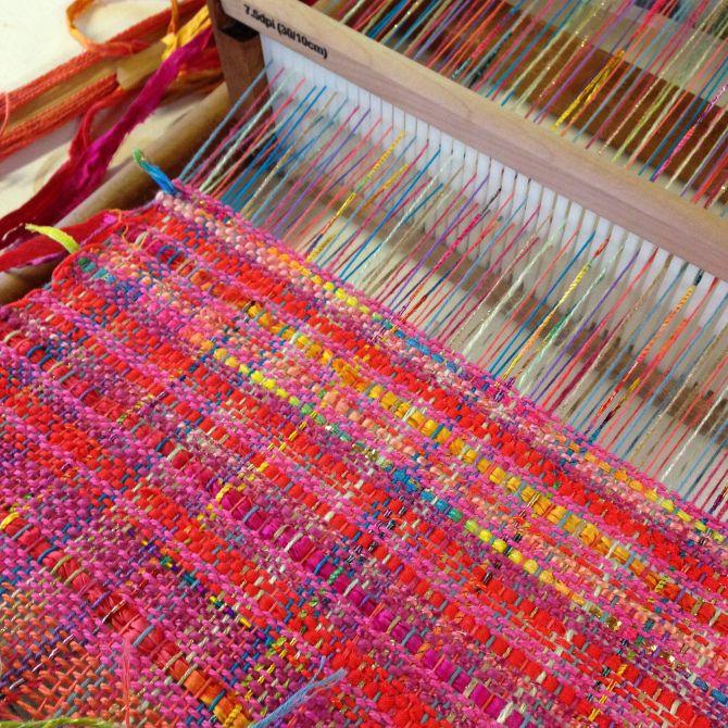 FLOWER GARDEN SUMMER DRESS WEAVING #weaving