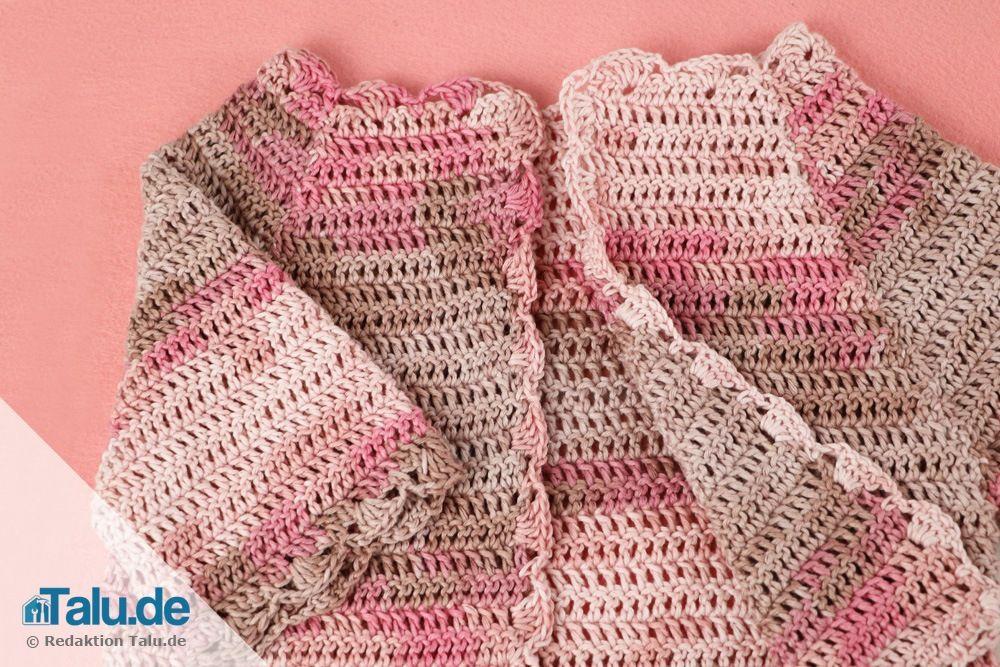 Süße Babyjacke Häkeln Anleitung Häkeln Pinterest Crochet