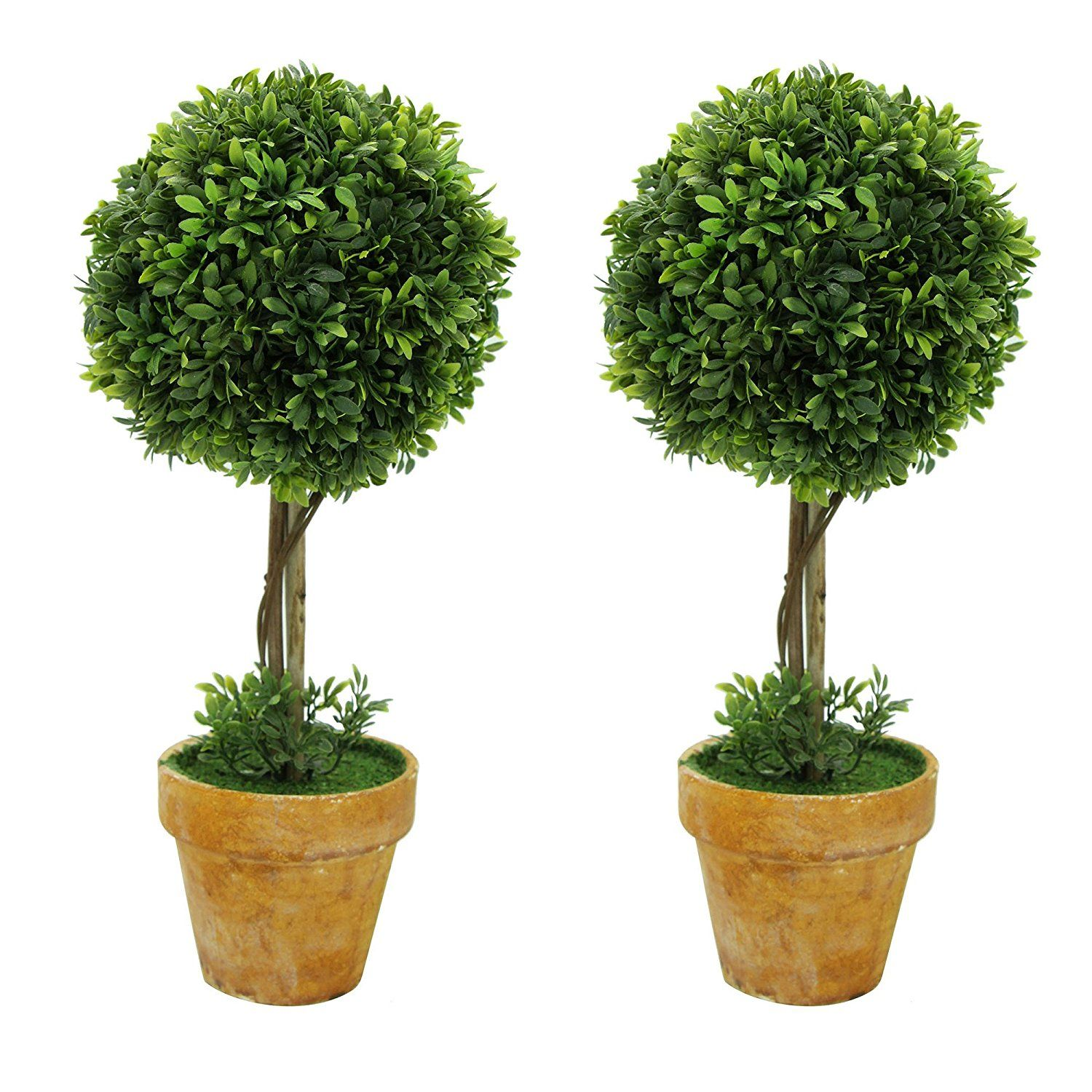 Keelorn cute ball shape greenery artificial plants and for Artificial plants indoor decoration