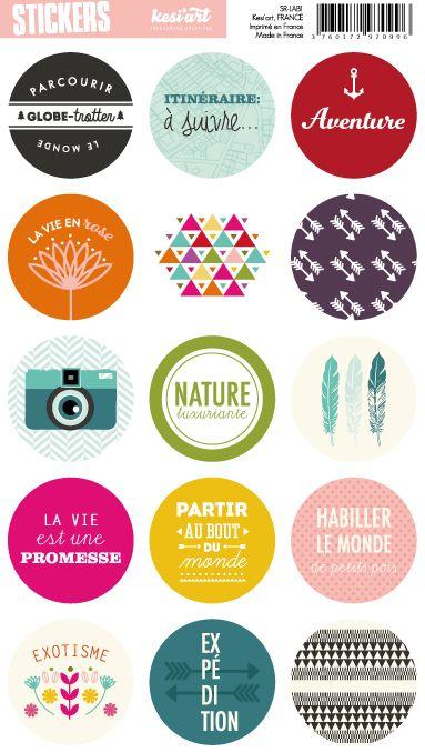 stickers ronds like a boho k siart mini album. Black Bedroom Furniture Sets. Home Design Ideas