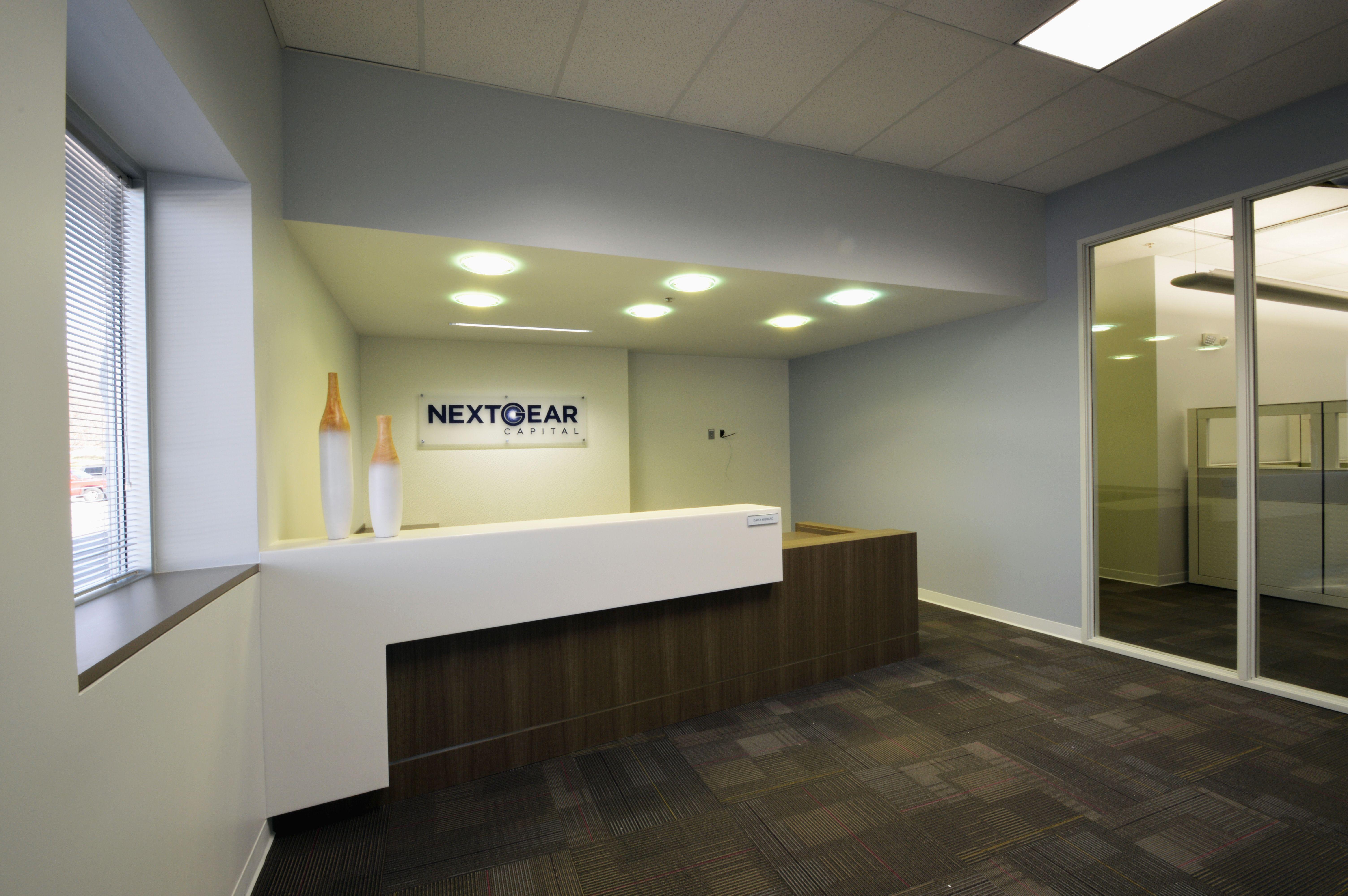 Reception Desk / Signage / Carpet Tile / Timely Frame / Bulkhead ...
