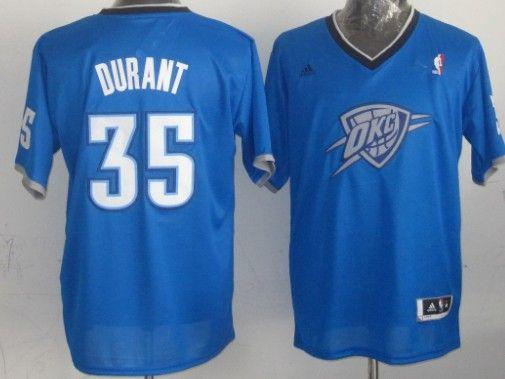 Oklahoma City Thunder #35 Kevin Durant Revolution 30 Swingman 2013 Christmas Day Blue Jersey
