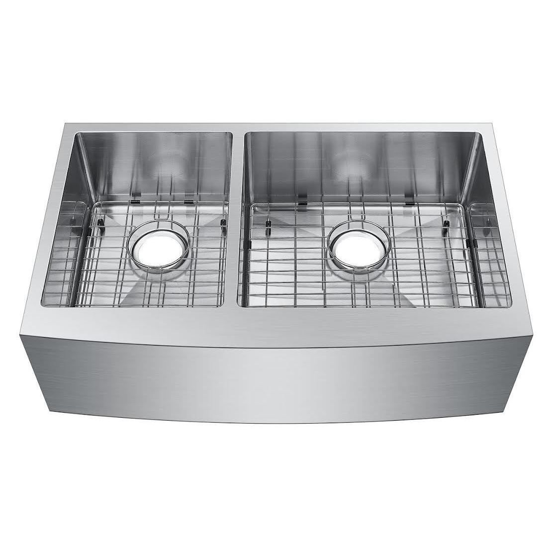starstar stainless steel 33 inch 40 60 double bowl undermount apron kitchen sink starstar stainless steel 33 inch 40 60 double bowl undermount      rh   pinterest com